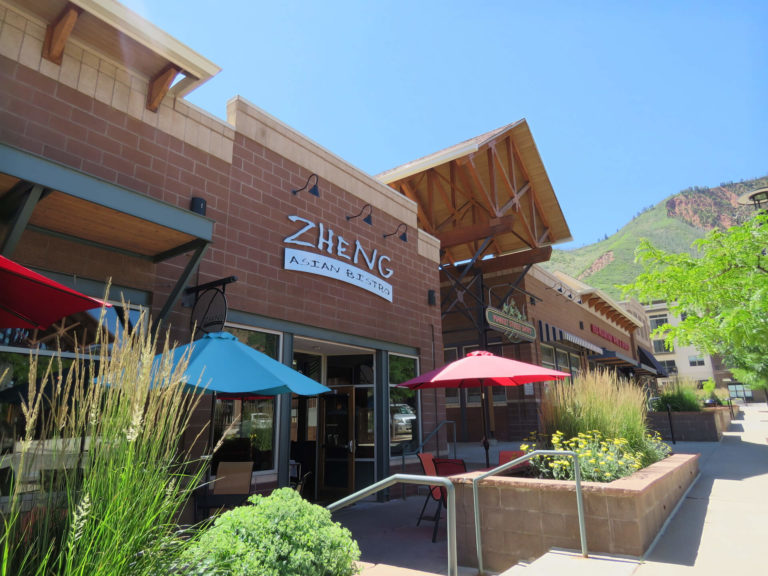 Zheng Asian Bistro outdoor seating area