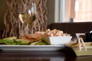 ceviche-plate-wine-glass