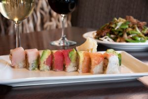 Rainbow Roll at Zheng Asian Bistro